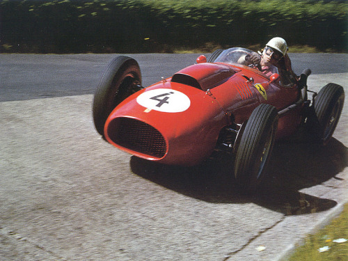 Wolfgang von Trips and the ever so gorgeous Ferrari 246 F1, lapping the Nurburgring in 1958.