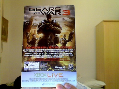 Got my Gears Of War 3 beta key, who said you need to buy Bulletstorm. Instead of spending 70-80$, I just spent 5$ for deposit. PURCHASED!