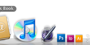 Super old application icons on my super old 2006 MacBook.