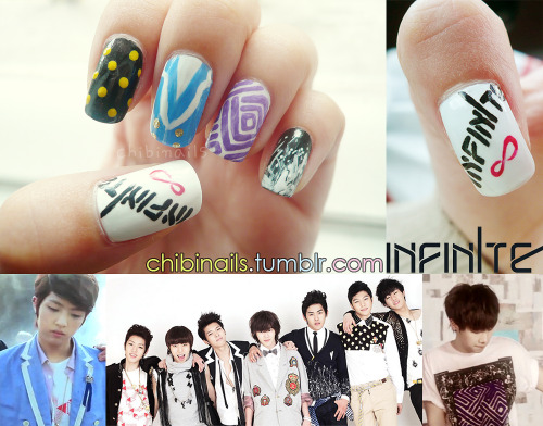 "Infinite inspired nails from ""Nothing's Over"" music video"
