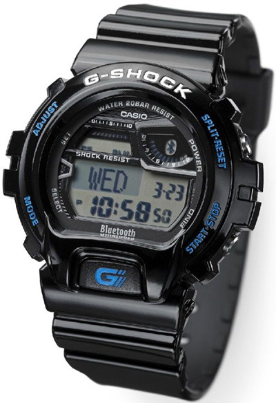 "The new Casio G-Shock Bluetooth is designed for use with upcoming Bluetooth profile 4.0 mobile phones, the Bluetooth 4.0 is designated as a ""low energy profile,"" watch will retain a 2 year battery life on a single CR2032 battery.  the Casio G-Shock Bluetooth with wireless sync with your phone's time, and help you manage incoming alerts as well as work with your phone's alarms. @badhabitsco"