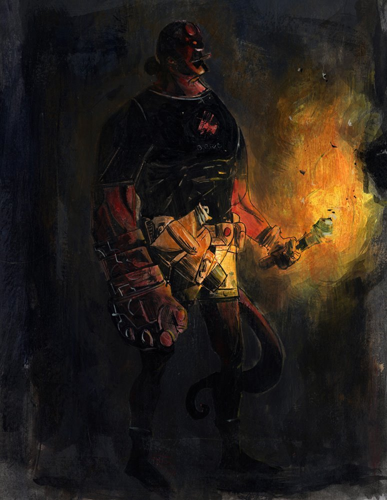Hellboy by Eric Bonhomme.