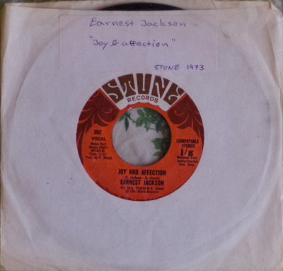 "Earnest Jackson - Joy And Affection (7"") Label: Stone Cat#: 202 Funk, USA, 1973 RYM Note: Funky, funky, funky!"