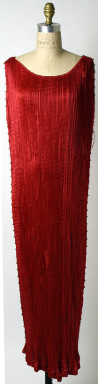 "Mariano Fortuny ""Delphos"" dress via The Costume Institute of the Metropolitan Museum of Art"