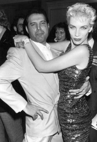 Freddy Mercury and Annie Lennox