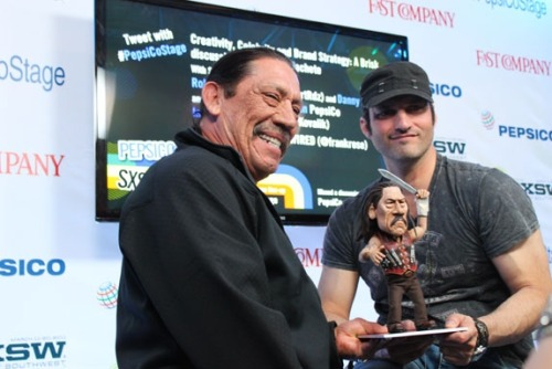 Danny Trejo and Robert Rodriguez swag it out with us at SXSW. Photos of mostly unfamous people at the click.