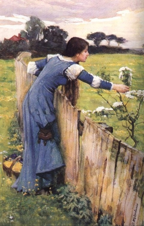 rosebiar: 1900 John William Waterhouse (English 1849-1917) ~ The Flower Picker