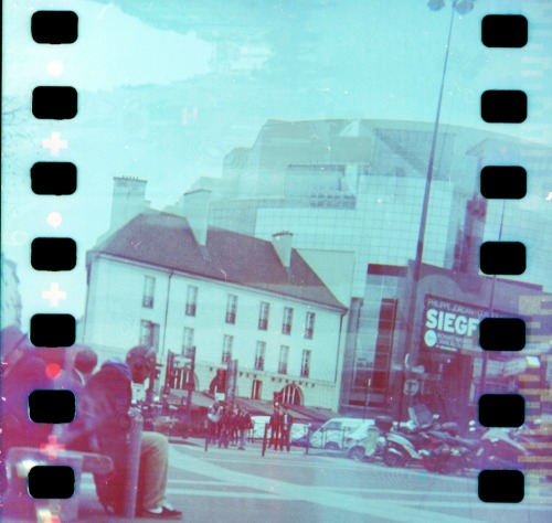 Bastille Double Exposure | Shot with a Woca hacked for 35mm and Revolog 600nm film