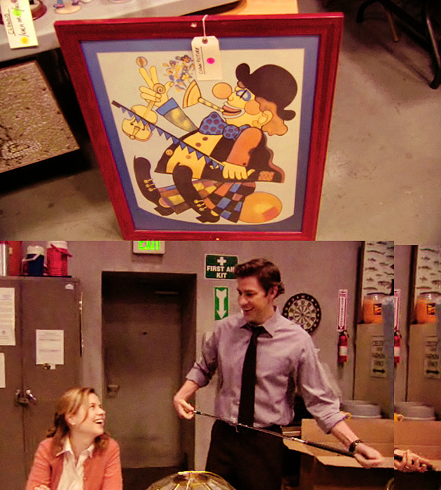 labeledbones:   jim: finally got that off the wall.  Wait. How did I miss this when I was watching the episode? D: