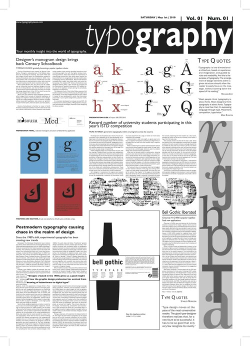 Typography Newspaper ©Manolia D'Souza