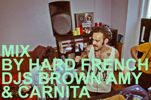 "Everybody get funky. HARD FRENCH DJs Brown Amy and Carnita have been throwing thee best Saturday afternoon party in San Francisco. Soul jams, BBQ, lines around the block, and babes all around. They just went on a short tour to show the country how they cruise — SF style. Thank you Carnita for sharing this mix. Get a taste of HARD FRENCH at El Rio on April 2nd. $7, 2pm-8pm (free BBQ), 3pm-4pm $1 Beers. WHOA. ""Hot hot live soul mix from Brown Amy & I now on our blog, The Real Nitty Gritty Download, stick in yr ipod, smoke it"" – Carnita (from The Real Nitty Gritty) download here Lyn Collins – Rock Me Again And Again Norma & The Heartaches = Hot Pants The Vibrations = Love In Them There Hills Martha & The Vandellas = End Of Our Road The Ikettes = Don't Feel Sorry For Me Inez & Charlie Foxx = Hi Diddle Diddle Tony Clarke = Landslide Chris Clarke = Loves Gone Bad The Supremes = Love Is Like An Itching In My Heart Honey Cone = Want Ads The Temptations = Can't Get Next To You The Mirettes = In The Midnight Hour Little Eva Harris = Get Ready/Uptight Ollie & The Nightingales = Girl You Have My Heart Singing Mitch Ryder = Sock It To Me Dee Dee Sharp = Rock Me In The Cradle Shirley Ellis = The Clapping Song The Shangri-Las = Bulldog The Soul Sisters = Think About The Good Times Jackie Wilson = Higher And Higher The Olympics = Baby Do The Philly Dog Gloria Jones = Tainted Love The Isley Brothers = Nobody But Me The Shells = Whiplash -Pedro  ."