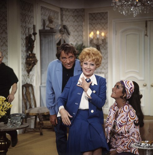 thelittlefreakazoidthatcould:  Richard Burton, Lucille Ball and Elizabeth Taylor on the set of Here's Lucy (Episode: Lucy Meets the Burtons) 1970.