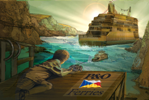 Poster design for P&O ferries. Not sure if it's finished yet hmm.
