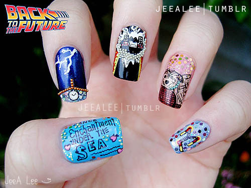 Back To The Future Nails(A Tribute To One Of My Favorite Movies)