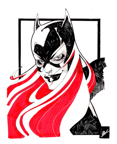 kapowbamfwoosh:  Batgirl in a very bold and striking style by Matteo Scalera  ,
