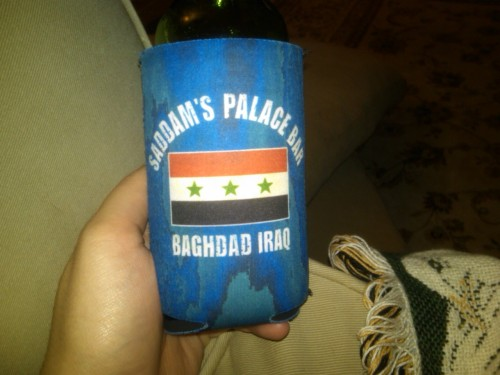 lagitagi:  The most badass koozie. My dad brought it back with him after his first deployment and I have (unsuccessfully) been trying to steal it.