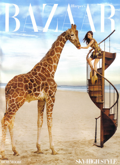 Demi Moore in Alexander McQueen in Harper's Bazaar Featured in The Rachel Zoe Project