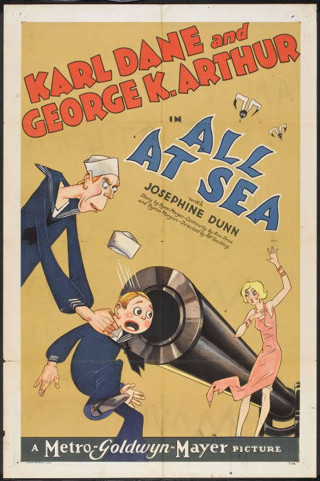 "daneandarthur:  A poster for ""All At Sea"" (1929)"