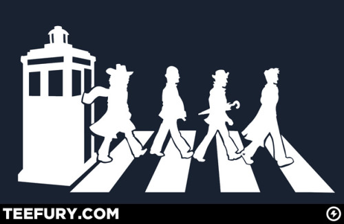 Doctor Who and the Beatles come together at Teefury today (3-26) thanks to Jacen Carpenter. Make sure that you also check out his full-size custom built Tardis that leads to his secret comic room HERE! The Gallifrey Road by Jacen Carpenter (Facebook)