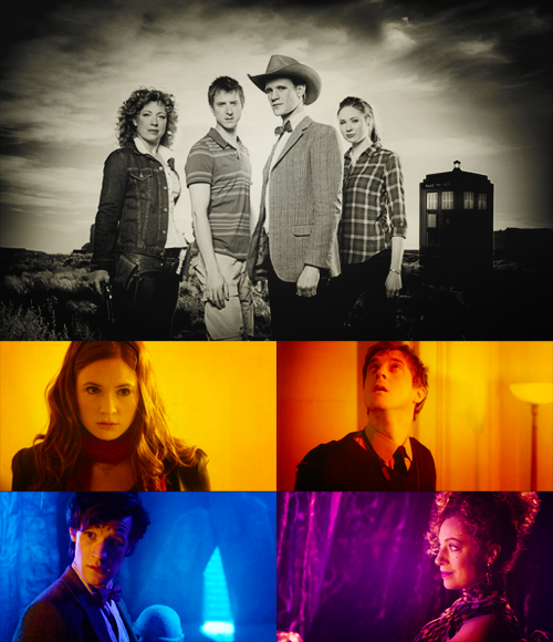blackradar:  30 Days of New Who - Day 25 - Favourite (or soon to be favourite) TARDIS team - River + Rory + Amy + The Doctor
