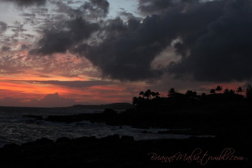 """Poipu Sunset 2"" Here's another pic of the sunset, taken about 10 minutes after the first. This pic is unedited as well."