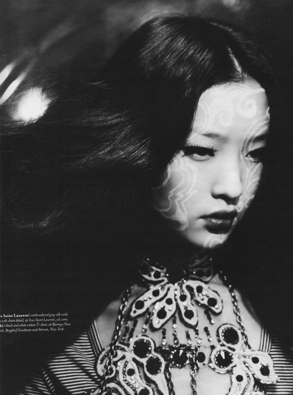 Du Juan photographed by Paolo Roversi - W Magazine: October 2006 - Face Time