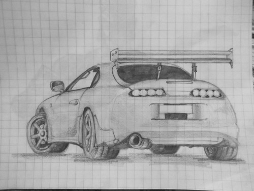 unforeseen-eventuality:  Toyota Supra // by Morier23  how does he even