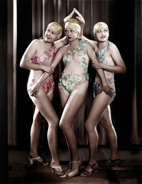 hollyhocksandtulips:  Chorus girls, 1933