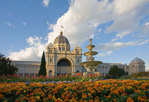The Royal Exhibition Building in Melbourne, Australia.