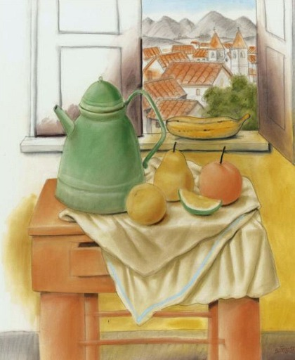 Fernando Botero Still Life in Front of a Window 1997