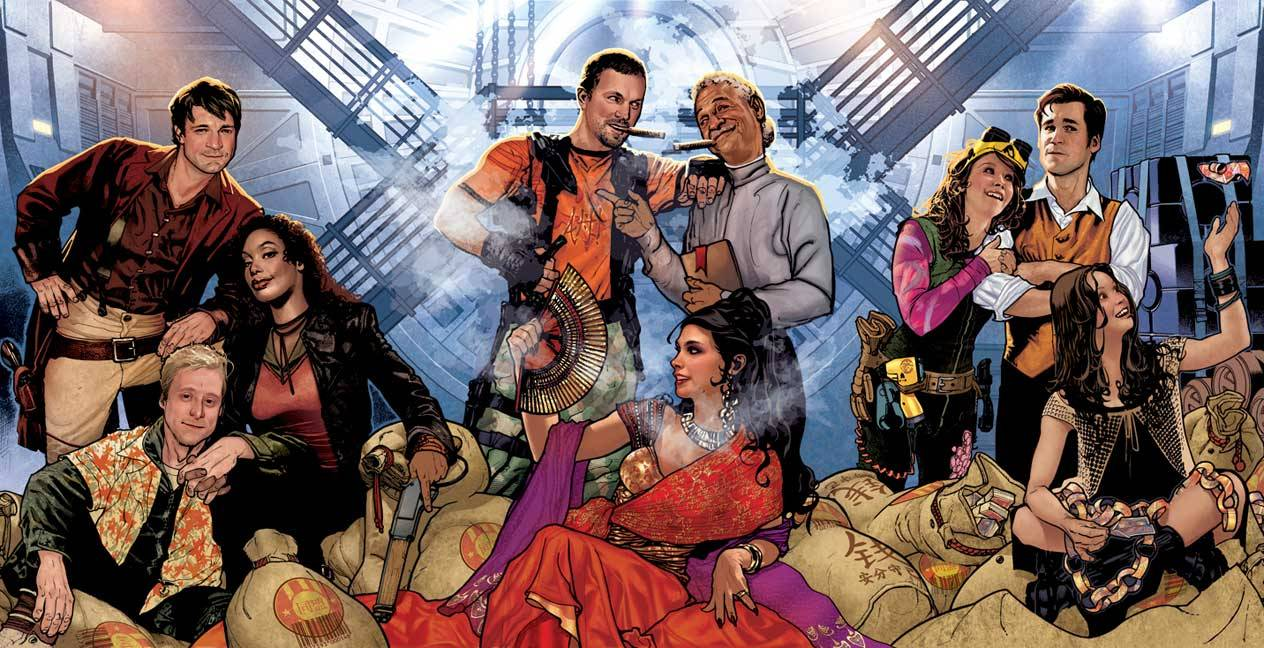 The crew of Firefly. Art by Adam Hughes