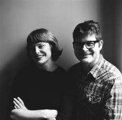 "CARSON ELLIS & COLIN MELOY illustrator/author photo for their new book ""wildwood"""
