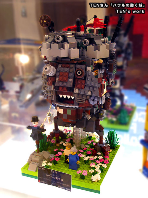 Howl's Moving Castle in Lego, by TEN for the 2009 clickbrick contest.  RIP Diana Wynne Jones.