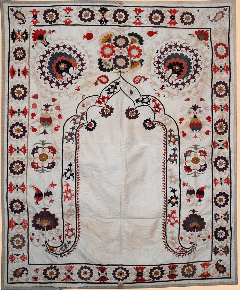 Suzani silk on cotton - circa 1880.