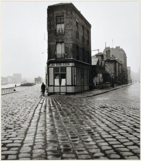 "proustitute:  Robert Doisneau, Au Bon Coin, quai du Port, Saint-Denis, 1945(image source; thanks luzfosca) ""The world, monotonous and small, today, Yesterday, tomorrow, always, shows us our image:An oasis of horror in a desert of boredom…""— Charles Baudelaire, from ""Le Voyage"""
