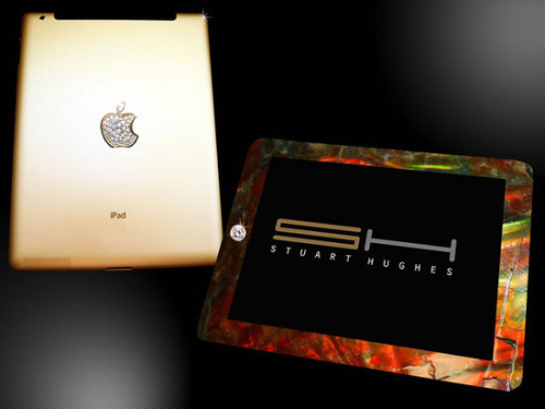 8 million dollar Ipad 2 features, 2000 grams of 24ct. gold, T-Rex thigh bone and front frame constructed from 75 million year old rock