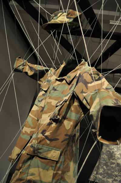 Untitled Uniforms, Cable, wood Fall 2010