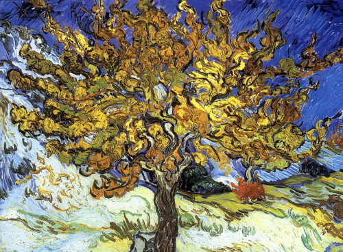 Mulberry Tree by Vincent van Gogh, 1889, oil on canvas, 54 x 65 cm, Norton Simon Museum, Pasadena, California via missfolly