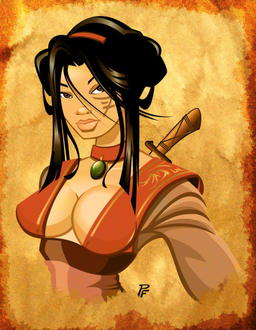 dirtydisneydames:    Asian Warrior Bust by *1nch