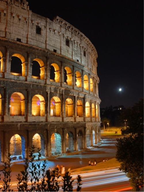 The Colosseum in San Paolo in Rome, Italy