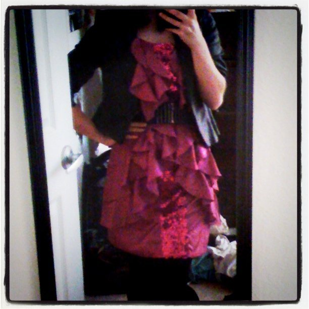 HOB party outfit with my dress and grey chucks :) (Taken with instagram)