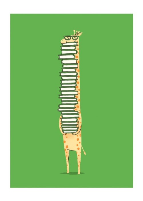 """A Book Lover"" Print from ilovedoodle Etsy by Lim Heng Swee"