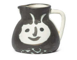 mrkiki:  PicassoTêtespartially glazed ceramic pitcher5¼in. (13cm.) highConceived in 1956 MORE