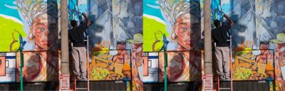Miami muralist paints art of city life Miami muralist Serge Toussaint brightens Miami's neighborhoods with vibrant street art that offers a window into city life. More… Via: Miami Herald     Photo: MosaicOfArt