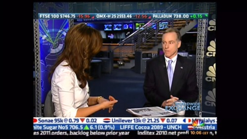 Howard Dean on set last week- Ed Rendell this week…I'm definitely on Gov. patrol