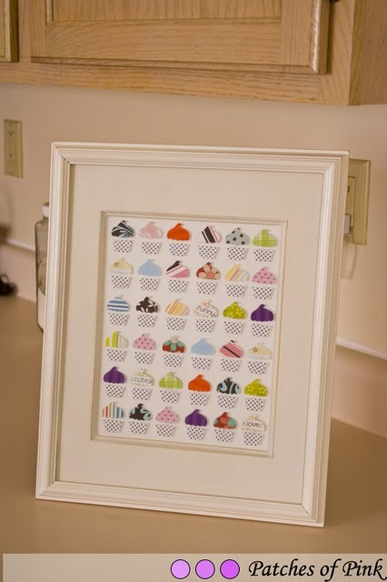 (via Patches of Pink: Cupcake Picture Frame: What to do with all that scrap paper?)