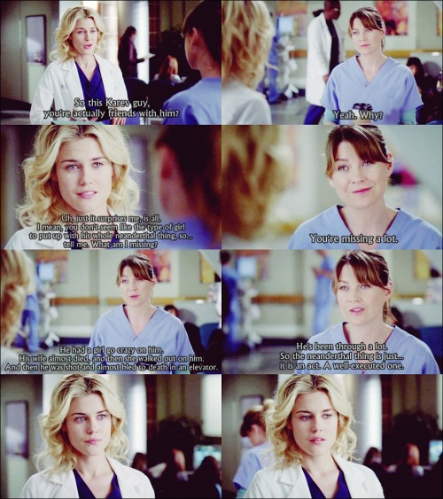 You're missing a lot. [Grey's Anatomy]