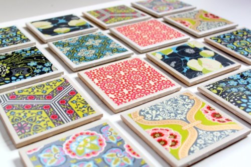 "diyforlife:  paintbrushdrive:  Beautiful decoupaged tile coasters…with an awesome tutorial too!  next project (: i have a weird obsession with making/decorating things that are square or rectangular. :x  Easy easy craft…however, like all crafts I woo over, it'll get catalogued  under ""I Like it but will Never probably do it"""