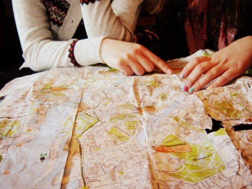 Reading a map - a lost art.