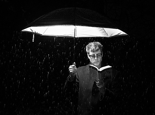 black-and-white:  Light Reading (by Pichead)